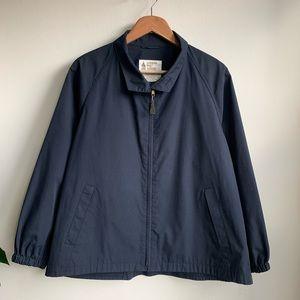 London Fog Vintage navy blue golf jacket